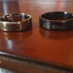 New his and her queen king ring set